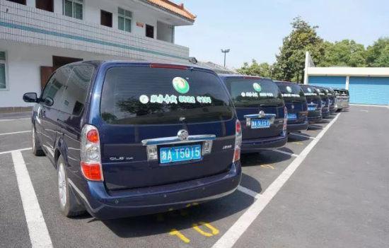 杭州殡仪馆已正式统一挂标的车辆。 杭州殡仪馆 供图