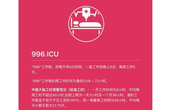 """""""996"""" 和""""996.icu"""""""