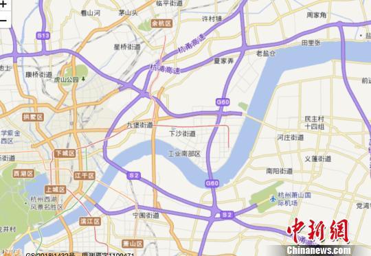 杭州地图。(局部) 张斌 摄