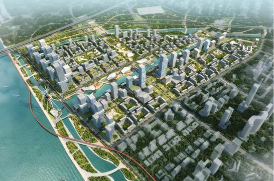 亚运村远期发展总体鸟瞰图