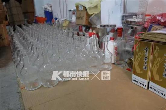假酒的酒瓶、防伪标识几乎和真酒一样,仿真程度较高