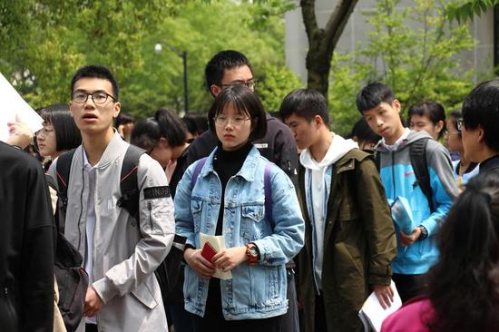"""浙江工商大学""""三位一体""""招生考试现场。(浙江工商大学供图)"""
