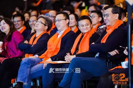 右起:卫哲、马云、井贤栋