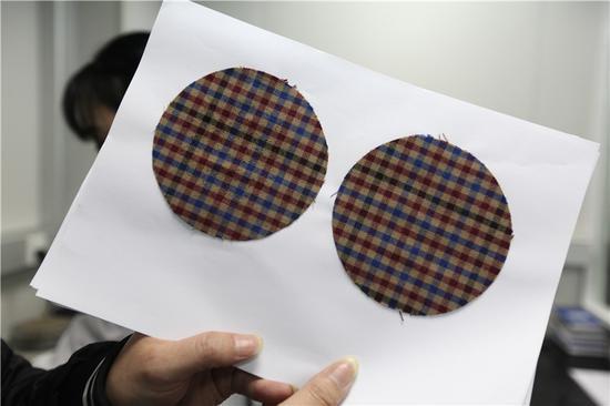 图为圆轨迹起球样品。甬志轩摄