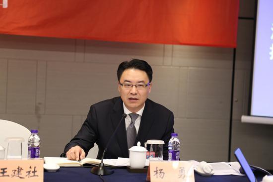 图为宁海县委书记杨勇。蒋攀摄