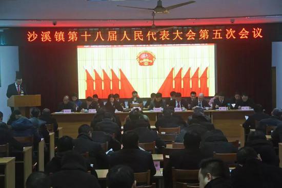 镇党委副书记、镇长候选人魏张弦作政府工作报告。