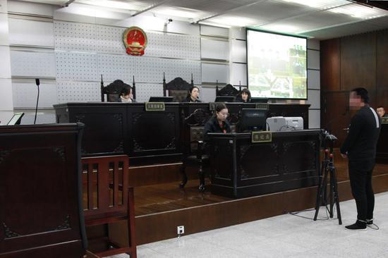 庭审现场。临安法院