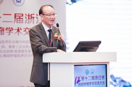 图为浙江省抗癌协会理事长毛伟敏发言。 主办方供图
