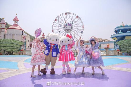 图片来源:@杭州Hello Kitty乐园