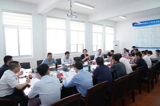 临海市委副书记王丹督查医化园区环境整治工作
