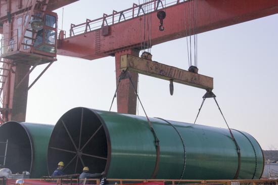 3.4米直径钢管吊装