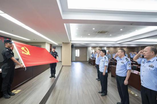 上虞公安举行入党纪念仪式