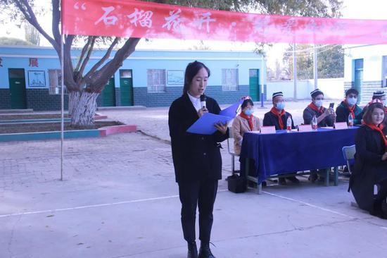 教师代表李海花老师发言