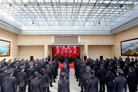 台州市公安局举行授牌仪式 为森林警察大队授牌