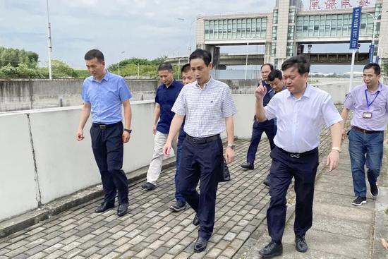 张永明局长带队调研杭甬运河上虞段