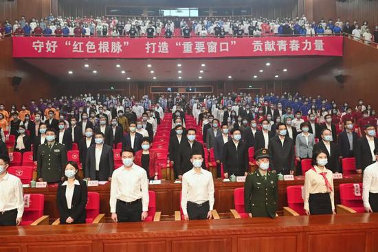 浙江省举行青少年庆祝建党100周年主题团日活动