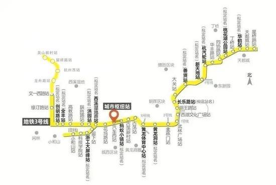 关注 杭州地铁3号线一期和9号线一期建成时间已定