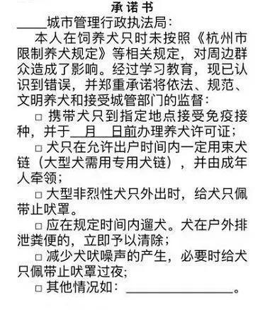 杭州加大养狗管理力度 不拴狗绳或没收狗罚款翻倍