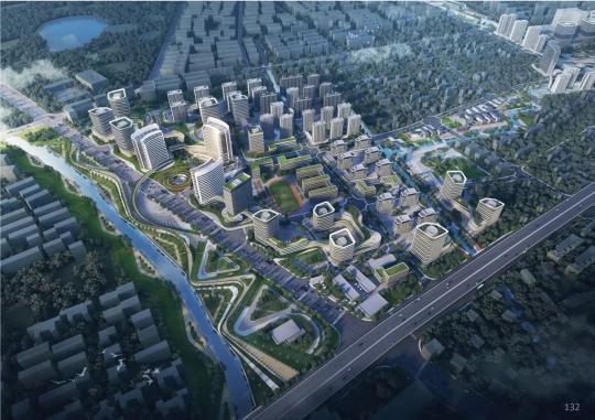 两轴两翼:城市生活轴、慢生活商务轴;