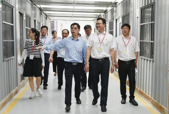 祁海龙带领相关负责人赴独山港经济开发区调研