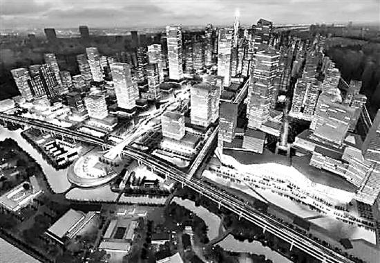 核心区单元城市设计意向图
