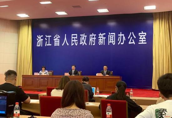 浙江省体育现代化县(市、区)创建工作新闻发布会现场