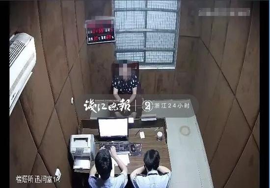 (对楼某进行审问)