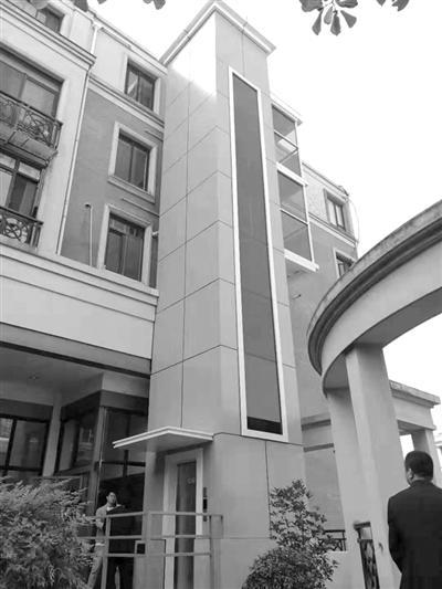 清波苑的空中加装电梯