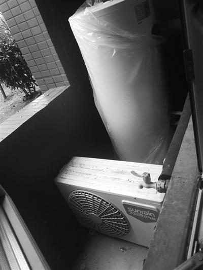 碧桂园幸福里小区统一配备的空气能热水器。
