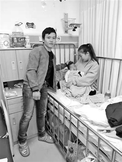 小怡一家人在上海求医。受访者供图