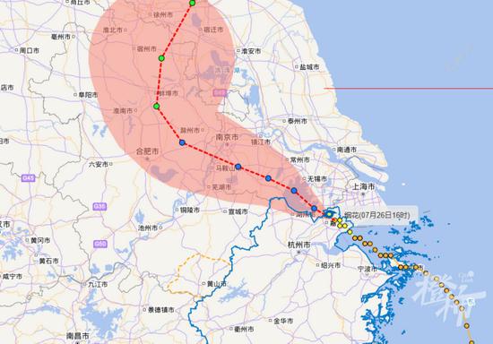 """""""烟花""""中心已移出浙江 杭州仍有局部暴雨个别大暴雨"""