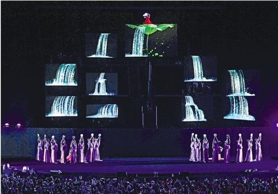"""""""杭州时间""""的开场就惊艳了众人 新华社发"""