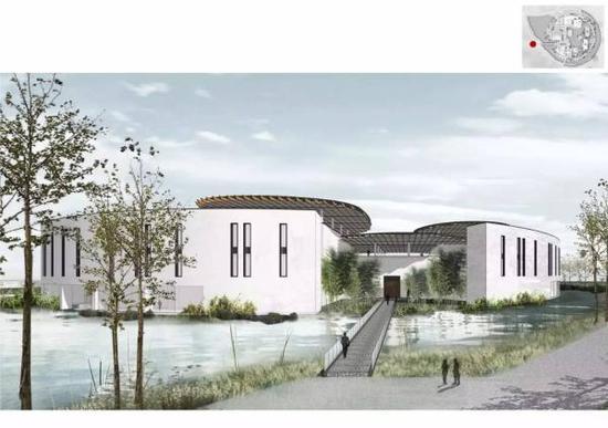 湖畔大学效果图西湖大学用环形水系分割学术和生活圈