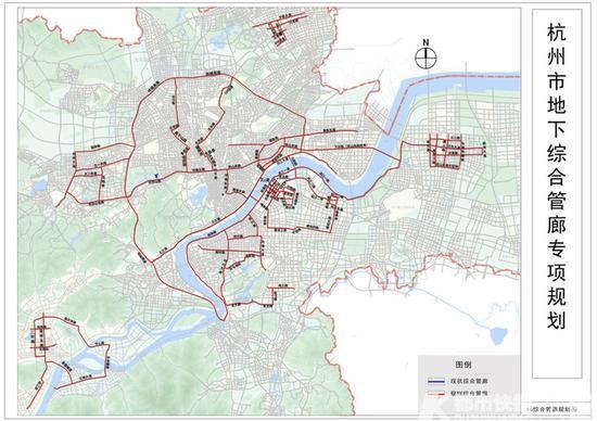 杭州市地下综合管廊规划图2016-2040