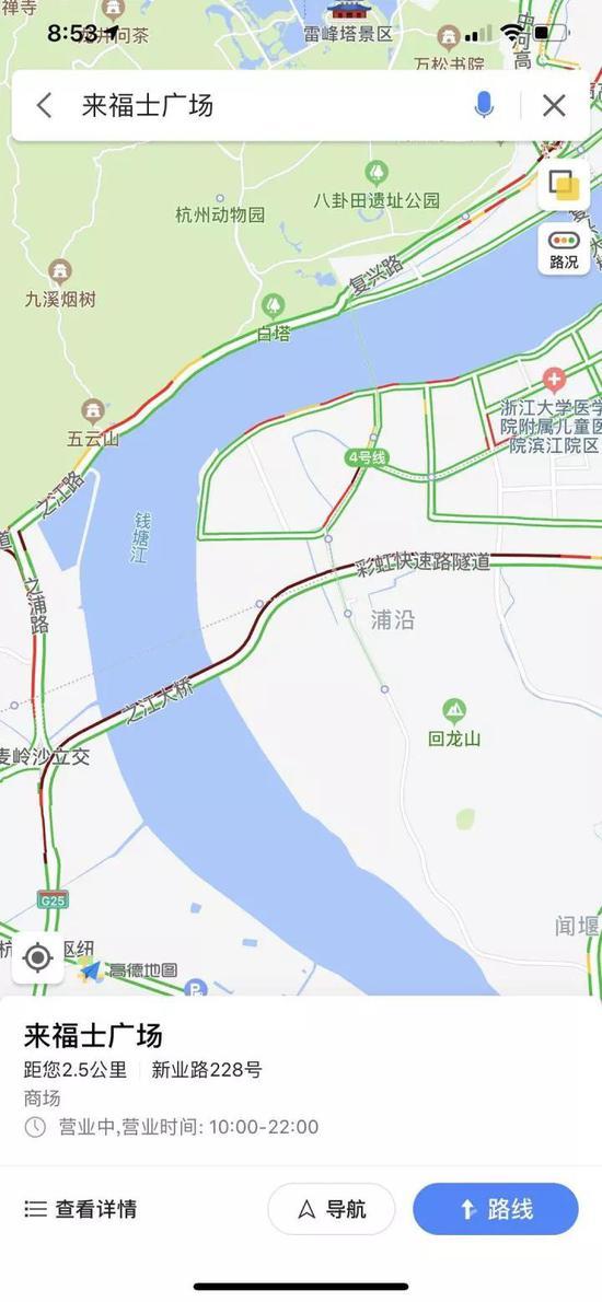 截至20:51,城东片区仍为中度拥堵。