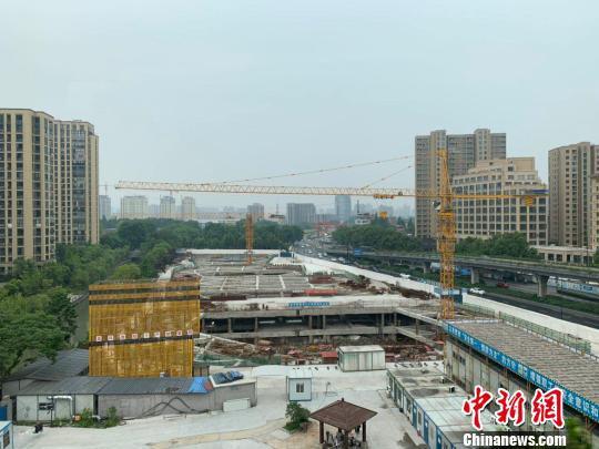 杭州某在建工地。 张斌 摄