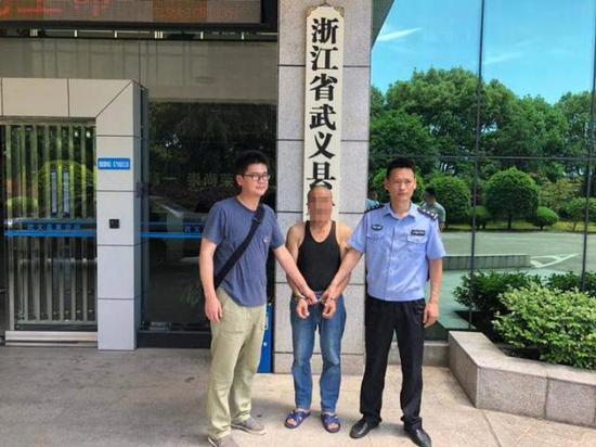 5月16日,金华武义警方将犯罪嫌疑人顾某移交上海警方带回作进一步审查。