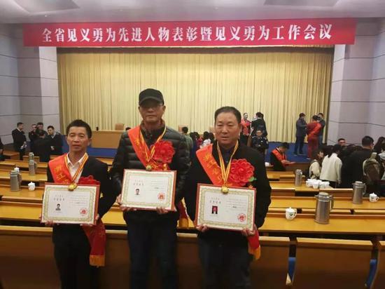 左起:方智兵、陈永德、蒋承仁