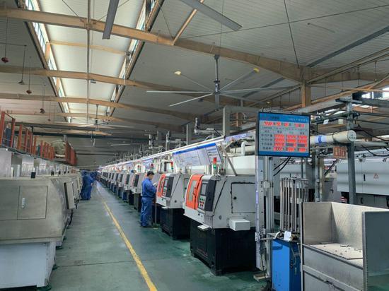 温州民企生产车间。(资料图) 张斌 摄