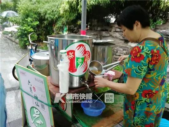 杭州爱心凉茶摊今年正式出摊 迈入第17年配方升级
