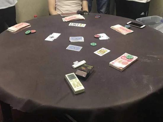 """百姓茶楼深夜变""""赌场""""。南湖公安供图"""