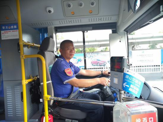 热心的公交车司机陈玉林。朱晓青提供