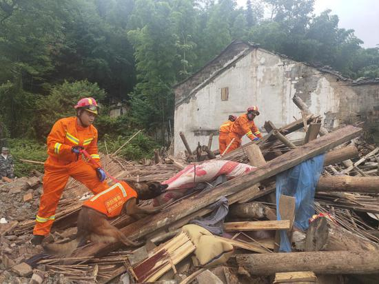 地质灾害应急救援演练 煤山镇 供图