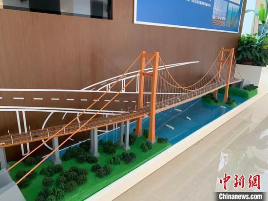 西堠门大桥模型。 张斌 摄