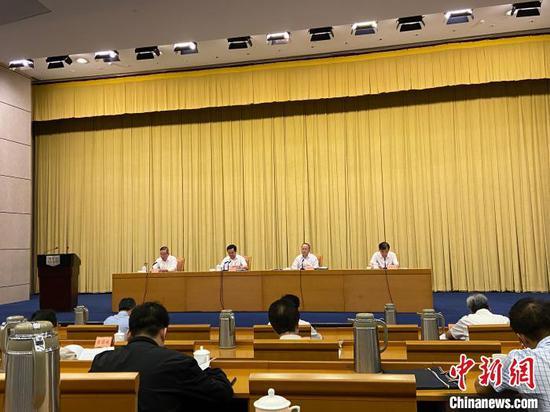 会议现场。 中新社记者 黄慧 摄