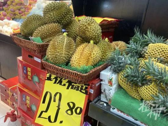 气温升高 榴莲在浙江大量上市了 价格便宜了不少
