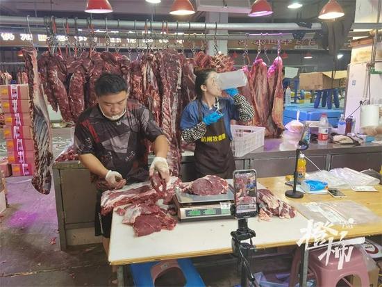 杭州一姑娘辞去工作 每晚11点到凌晨2点直播卖牛肉