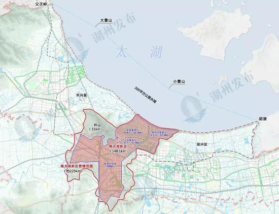 ▲南太湖新区规划范围图