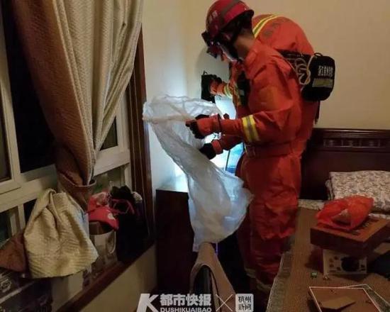 杭州一房主吓得赶紧报警 亲眼看见蛇钻进洗衣机里