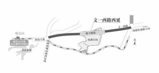 杭州文一西路联通临安 未来大江东直达临安科技大道